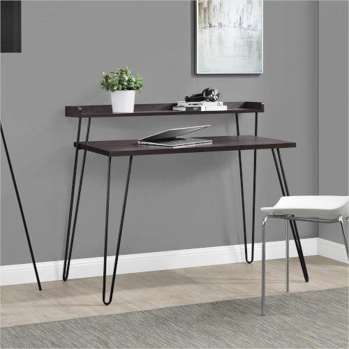 Haven Retro Home Office Desk with Riser – Espresso Additional Image 5