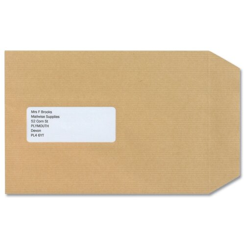 New Guardian C5 Window Manilla 130gsm Envelopes Self Seal Pocket Pack 250 Ref A23013 Additional Image 2
