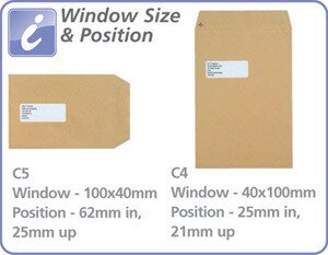 New Guardian C5 Window Manilla 130gsm Envelopes Self Seal Pocket Pack 250 Ref A23013 Additional Image 3