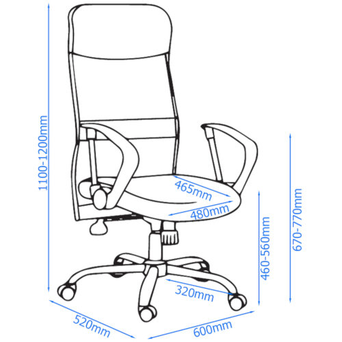 Alphason Office Chair Orlando Black Mesh Additional Image 6