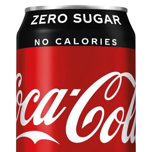 Coca-Cola Zero Sugar Coke Soft Drink Cans 330ml Each Pack of 24 A06992