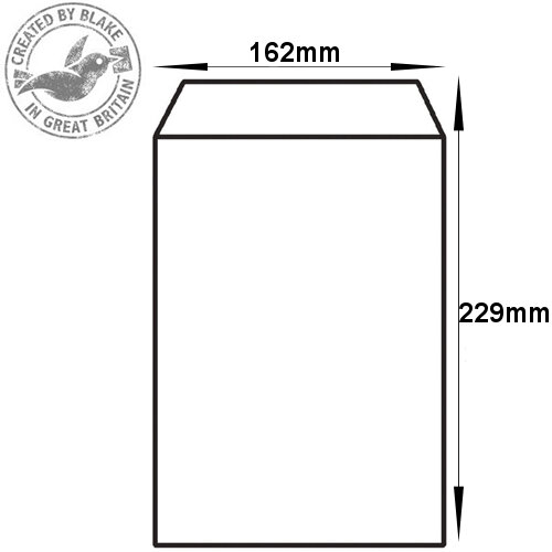 Purely Everyday White Self Seal Pocket C5 229x162mm Ref 13893 (Pack of 500) HuntOffice.ie