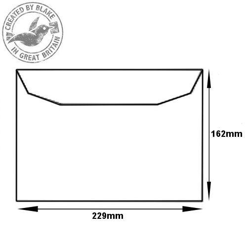 Purely Everyday Mailer Gummed White 100gsm C5 162x229mm (Pack of 500) HuntOffice.ie