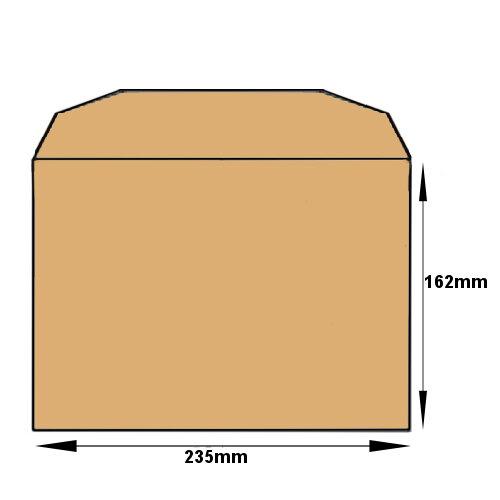 Purely Everyday Mailer Gummed Manilla 80gsm C5+ 162x235mm (Pack 500) HuntOffice.ie