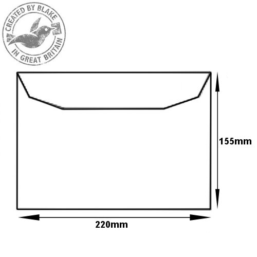 Purely Everyday Mailer Gummed White 90gsm C5- 155x220mm Ref 2800 (Pack of 500) HuntOffice.ie