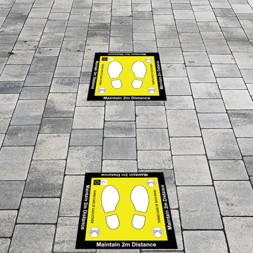 Maintain 2 Metres Floor Sign 600x600 Additional Image 1