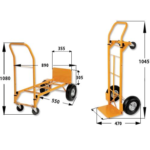 Heavy Duty Hand Trolley and Platform Truck Capacity 250kg RelX HuntOffice.ie