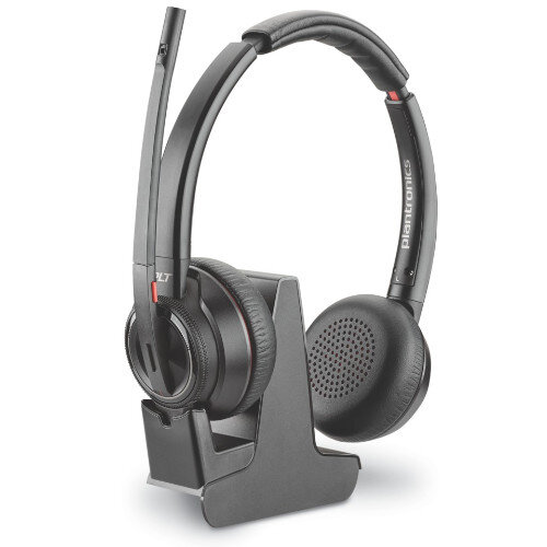 Plantronics W8220/A Savi 3-in-1 OnEar Stereo Headset - Wireless - DECT, Bluetooth 4.2 - Boom Mic - Designed for Phone, Computer at HuntOffice.ie