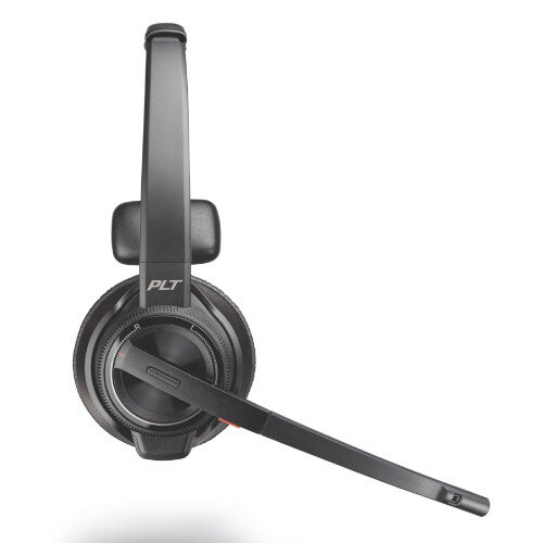 Plantronics Savi W8210/M Office Headset - Wireless, Monaural - DECT, Bluetooth 4.2 - Boom Microphone - Designed for Phone, Computer - Ref. 207322-02 at HuntOffice.ie