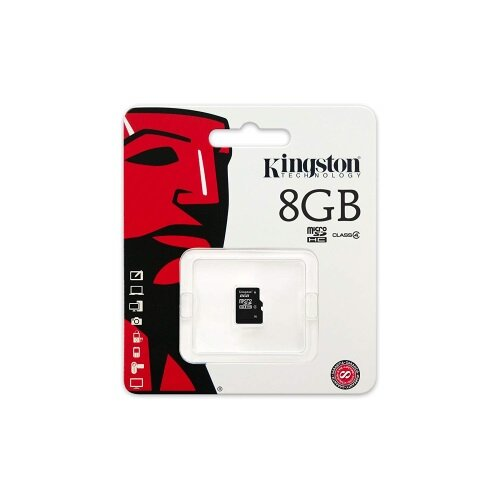 Kingston memory 8GB microSDHC Class 4 Flash Card Single Pack w/o Adapter – Lifetime Warranty, Minimum Transfer Data Rate 4MB/s, SD Specification Version 2.0, Plug and Play & Compatible With MicroSDHC (SDC4/8GBSP)  Additional Image 1