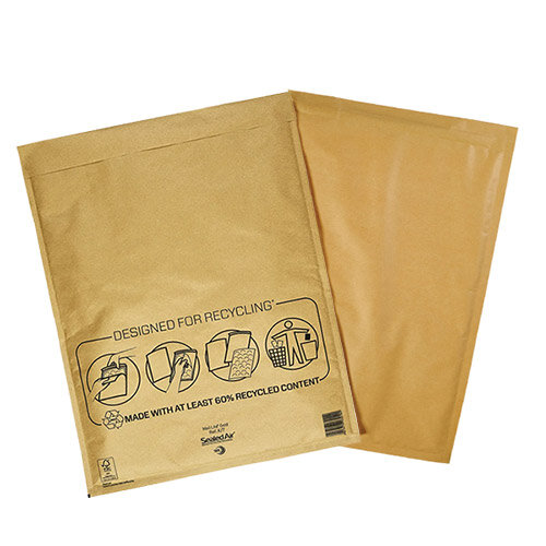 Mail Lite Bubble Lined Size K/7 350x470mm Gold Postal Bags Pack of 50 Additional Image 1