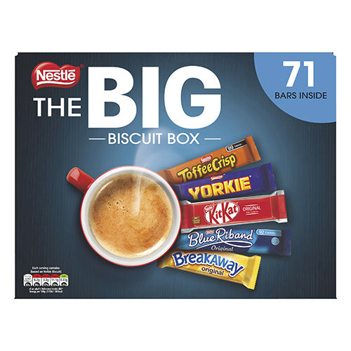 Nestle Big Chocolate Box Five Assorted Biscuit Bars Ref 12391006 Pack 71