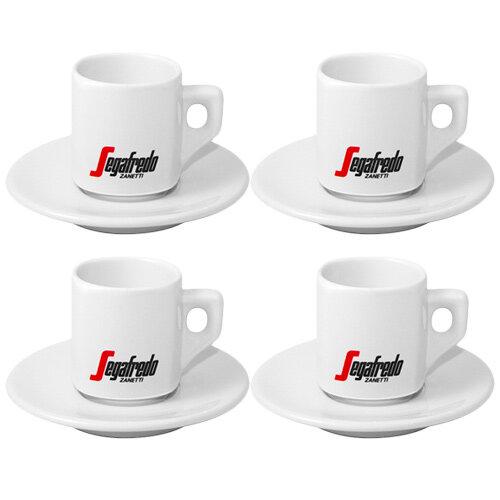Segafredo Espresso Cup 70ml & Saucer Pack of 4 Additional Image 1