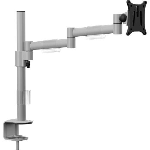 "Leap Single Monitor Arm Black - Up to 27"" Screen, Maximum Load 8kg, VESA Compatible Arm - Colour: Silver Additional Image 1"