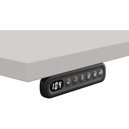 LEAP Electric Height Adjustable Rectangular Sit Stand Desk Portal Top W1200xD700xH620-1270mm Grey Top Silver Frame. Prevents & Reduces Muscle & Back Problems, Heart Risks & Increases Brain Activity. Additional Image 2