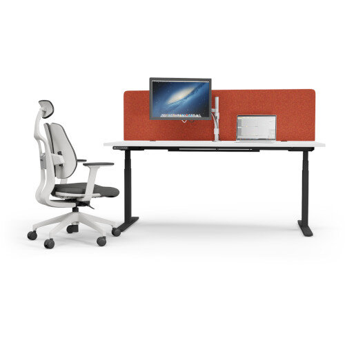 Acoustic Screen For Leap & Zoom Height Adjustable Desks W1200xH380mm - Camira BLAZER LITE Fabric - Colour Code: LTH56-Buddah Additional Image 2