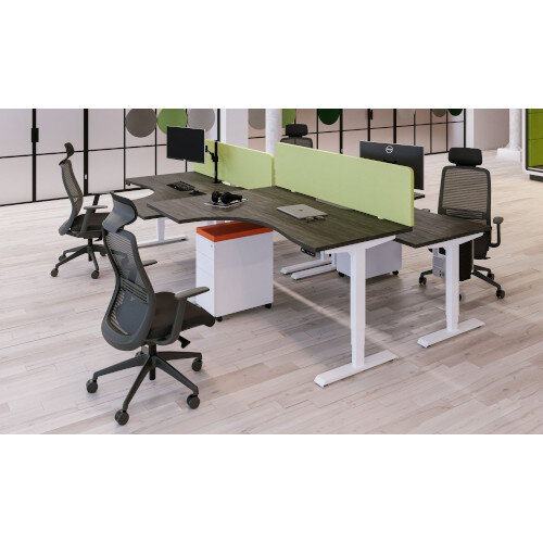 Acoustic Screen For Leap & Zoom Height Adjustable Desks W1200xH380mm - Camira BLAZER LITE Fabric - Colour Code: LTH56-Buddah Additional Image 3