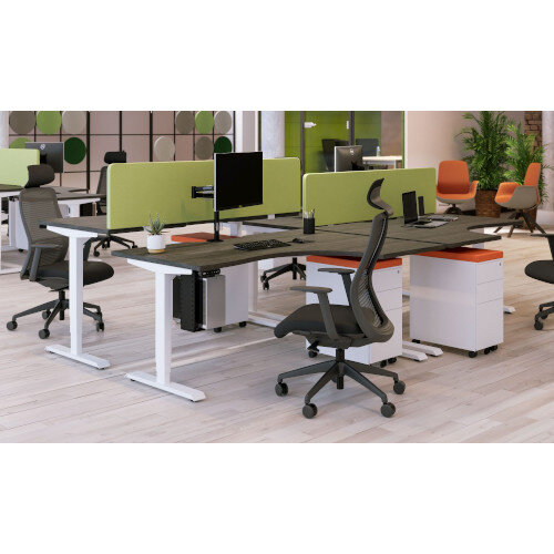 Acoustic Screen For Leap & Zoom Height Adjustable Desks W1200xH380mm - Camira BLAZER LITE Fabric - Colour Code: LTH56-Buddah Additional Image 4