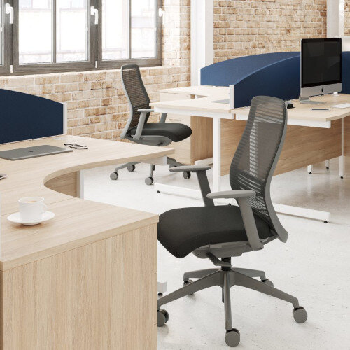 NV Posture Office Chair with Contoured Mesh Back and Adjustable Lumbar Support