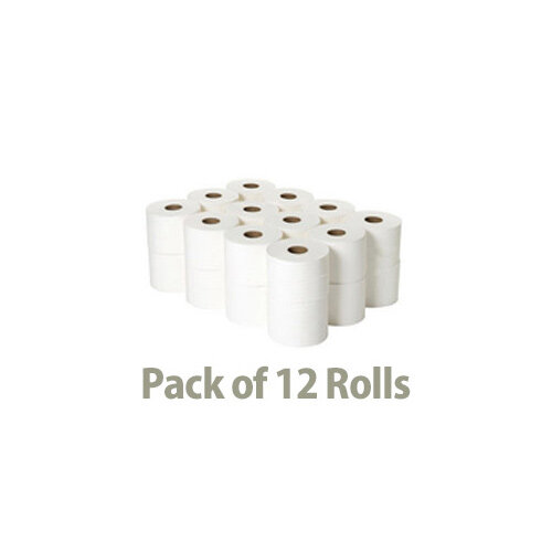 Cushelle Toilet Tissue Paper Rolls 2-Ply 180 Sheets White Pack of 12 Toilet Paper Rolls Additional Image 4