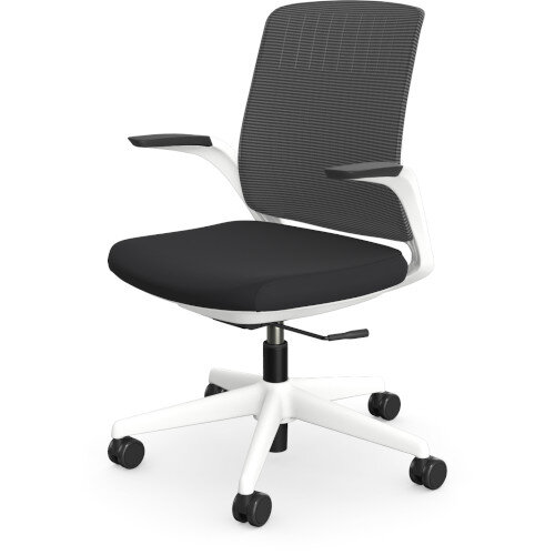 Z.33 Office Chair with Breathable Mesh Back Graphite Seat & White Frame Additional Image 1