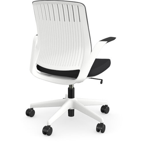 Z.33 Office Chair with Breathable Mesh Back Graphite Seat & White Frame Additional Image 2