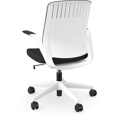 Z.33 Office Chair with Breathable Mesh Back Graphite Seat & White Frame Additional Image 3