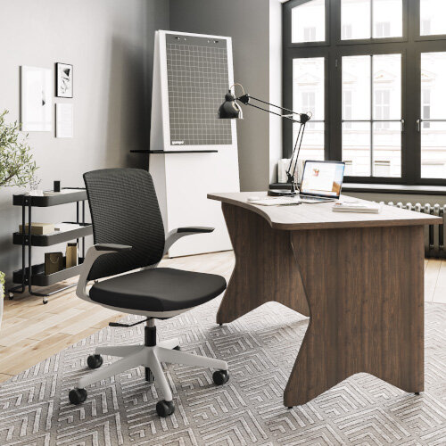 Z.33 Office Chair with Breathable Mesh Back Graphite Seat & White Frame Additional Image 5