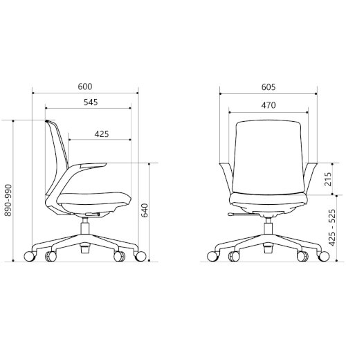 Z.33 Office Chair with Breathable Mesh Back Graphite Seat & White Frame Additional Image 6