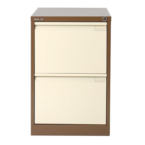 coffee/cream steel filing cabinet