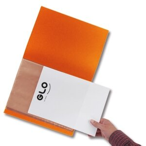 GLO Display Book 20 Pages A4 Orange - HuntOffice.ie