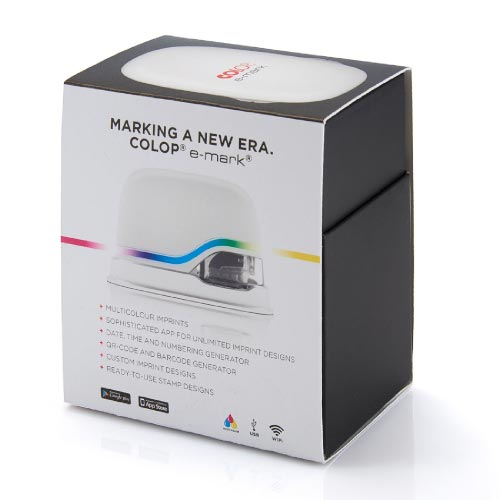 COLOP e-mark Digital Custom Stamp Creator - Replace Thousands of Stamps  With 1 Device! High Resolution Colour Imprints - Mobile Marking Printer -
