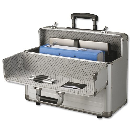 alumaxx omega trolley pilot case 2 combination locks silver aluminium 45122. Black Bedroom Furniture Sets. Home Design Ideas