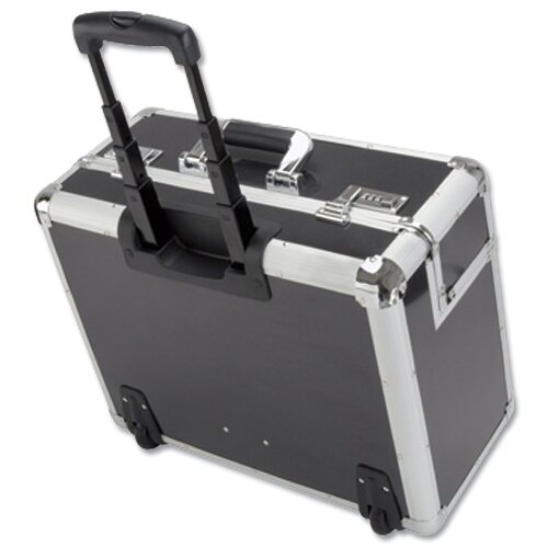 trolley pilot case silver carbon aluminium laptop compartment 2 combination locks alumaxx. Black Bedroom Furniture Sets. Home Design Ideas