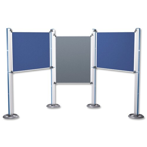 Nobo Free Standing Display Panels Modular Upright Pole And