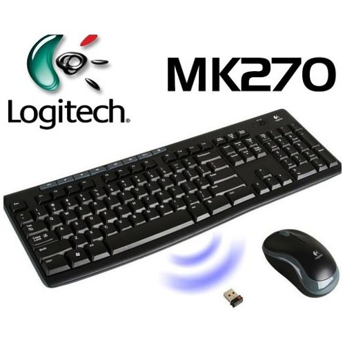 Logitech Wireless Combo MK270 - Keyboard and mouse set - wireless ... 94326c7e39b1e