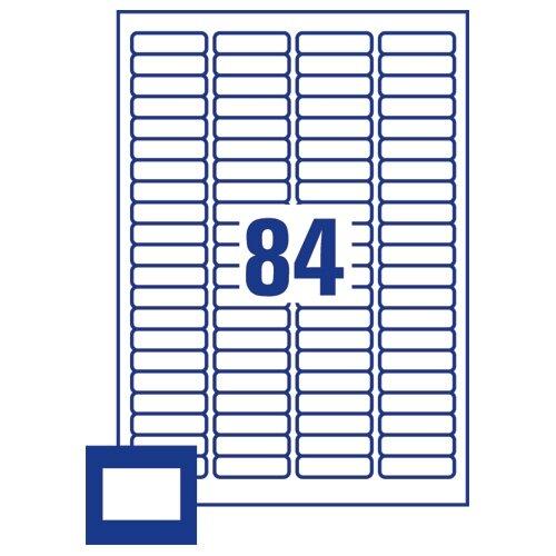 avery 35mm film slide labels 84 per sheet l7656