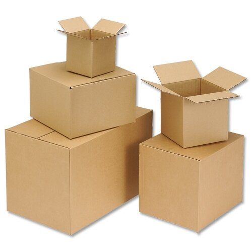 Cardboard Packing Box Double Wall Strong Flat-packed Internal Size 305x229x229mm Pack 15 Ambassador HuntOffice.ie