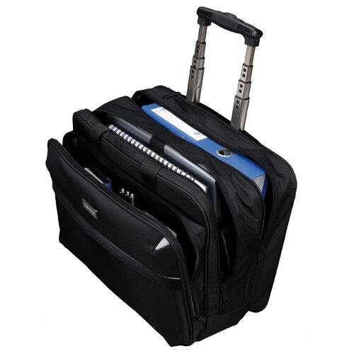 """Business Trolley Bag Black with 17"""" Laptop Compartment ..."""