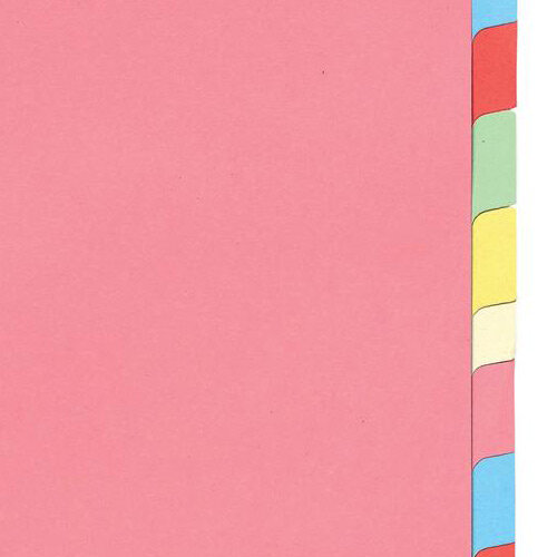 5 Sets 5Star A4 Index subject divider index tabs 12 part multicoloured 330925