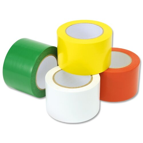 Heavy Duty Floor Marking Tape White 75mm X 33m Adpac