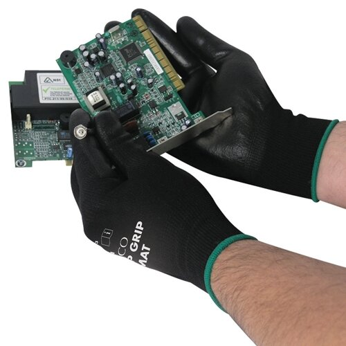 Polyco Matrix P Grip Men Work Gloves Seamless Nylon /& PU Coating Hand Protection