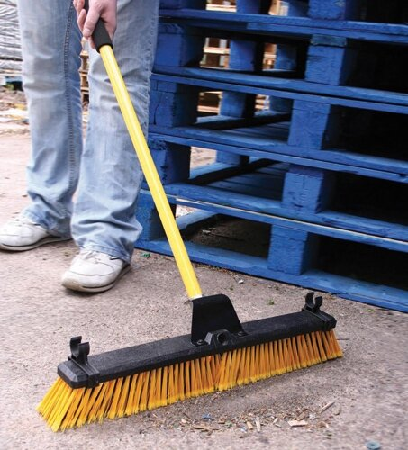 19 inch Heavy Duty Large Yard Brush Outdoor Warehouse Bulldozer Broom