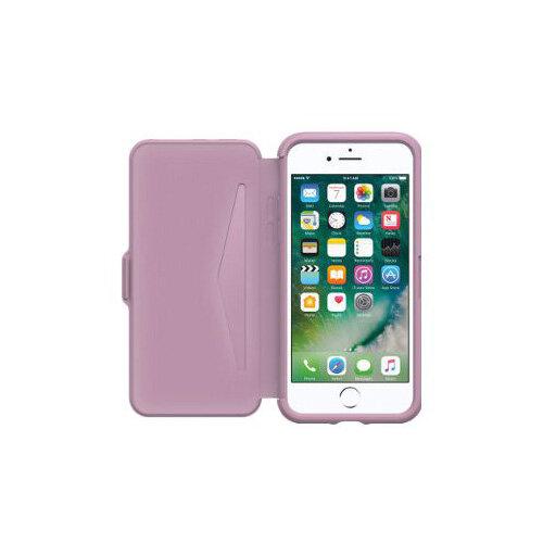sale retailer 70125 e2acc OtterBox Symmetry Series Etui Apple iPhone 7 - Flip cover for mobile phone  - faux leather - mauve dream - for Apple iPhone 7