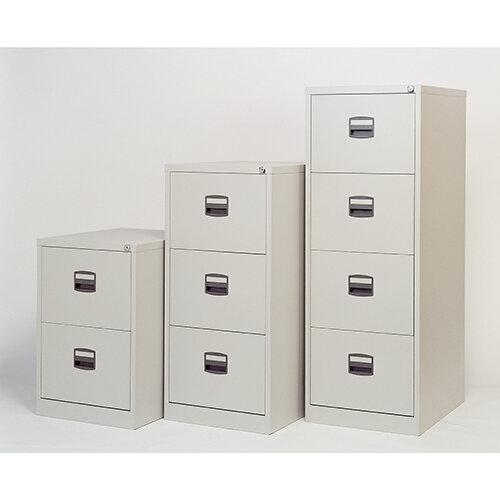 4 Drawer Steel Filing Cabinet Lockable Grey Trexus By Bisley ...