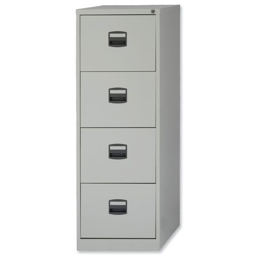 Drawer Steel Filing Cabinet Lockable Grey Trexus By Bisley - 4 drawer steel filing cabinet