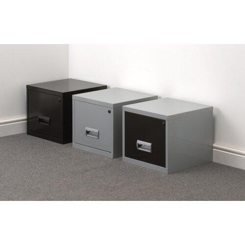 fc869343aad 1 Drawer Filing Cabinet Steel Black A4 Lockable Pierre Henry ...
