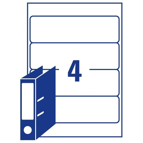 Avery Lever Arch Filing Labels Laser L7171-100 200x60mm 400 Labels ...