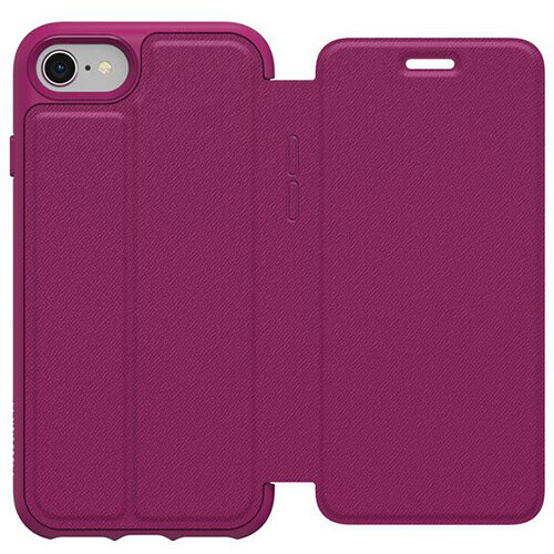 online store c51a0 2898f OtterBox Symmetry Series Etui Apple iPhone 8 - Flip cover for mobile phone  - faux leather - berry in love - for Apple iPhone 7