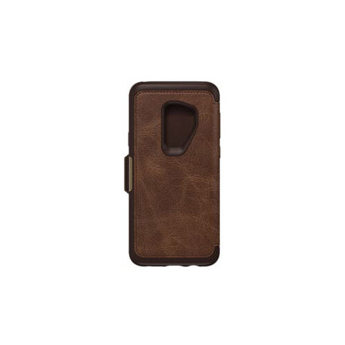 buy popular 668ee a9b9a OtterBox Strada Series Folio - Flip cover for mobile phone - leather,  polycarbonate - espresso brown - for Samsung Galaxy S9+